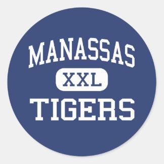 Manassas - Tigers - High - Memphis Tennessee Round Sticker