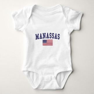 Manassas US Flag Baby Bodysuit