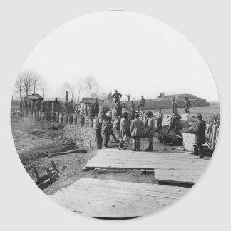 Manassas, Va. Confederate fortifications Classic Round Sticker