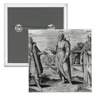 Manasseh  Amon  and Josiah 2 Inch Square Button