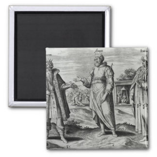 Manasseh  Amon  and Josiah 2 Inch Square Magnet