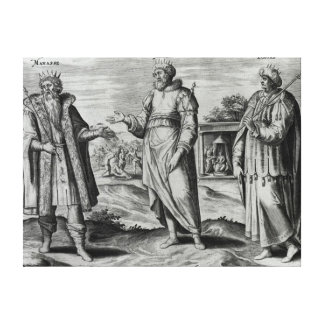 Manasseh  Amon  and Josiah Canvas Print