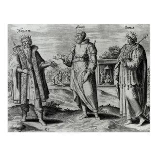 Manasseh  Amon  and Josiah Postcard
