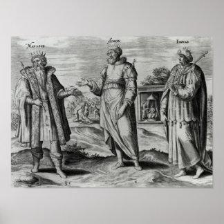 Manasseh  Amon  and Josiah Poster