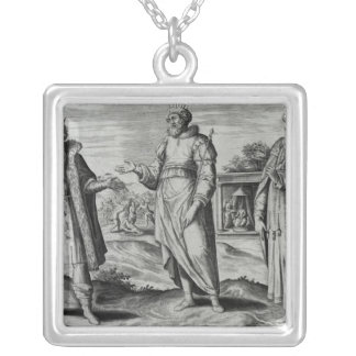 Manasseh  Amon  and Josiah Square Pendant Necklace