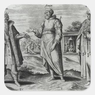 Manasseh  Amon  and Josiah Square Sticker