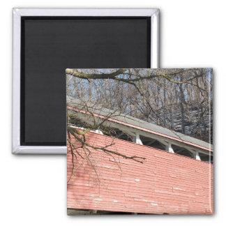 Manasses Guth's Covered  Bridge 2 Inch Square Magnet