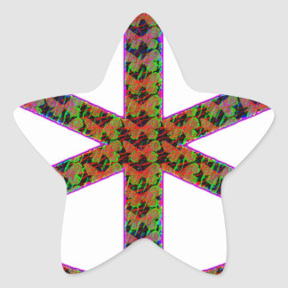 manat star sticker