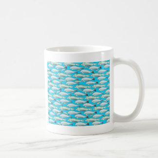 Manatee and Dugong pattern in blue Coffee Mug