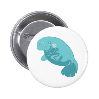 Manatee Animal Buttons