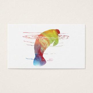 Manatee art business card