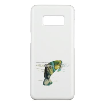 Beach Themed Manatee art Case-Mate samsung galaxy s8 case