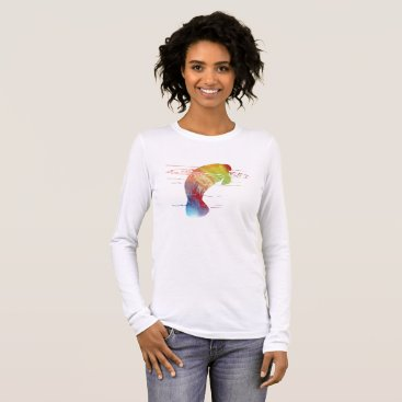 Beach Themed Manatee art long sleeve T-Shirt