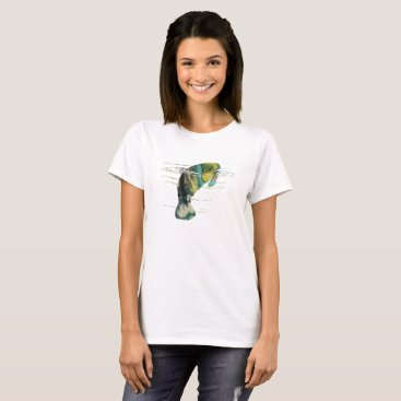 Beach Themed Manatee art T-Shirt