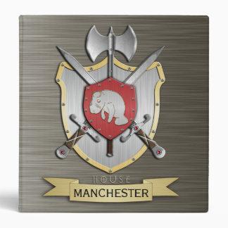 Manatee Battle Crest Sigil Armor 3 Ring Binder