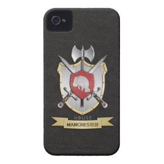 Manatee Battle Crest Sigil Black iPhone 4 Case-Mate Case