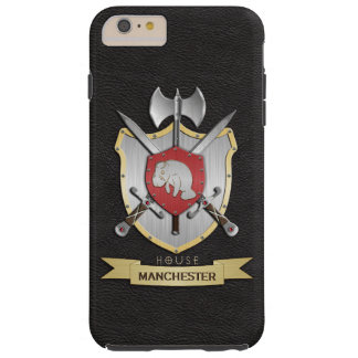 Manatee Battle Crest Sigil Black Tough iPhone 6 Plus Case