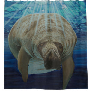 Manatee By Smitty Shower Curtain