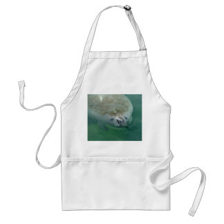 Manatee Close Up Adult Apron