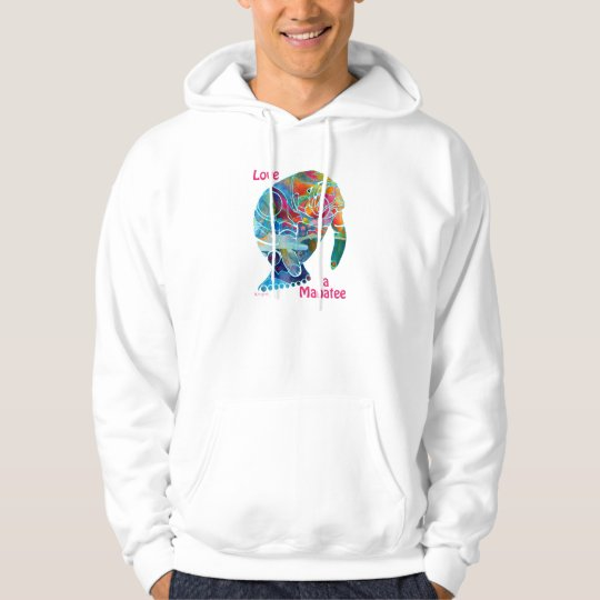 Manatee Design Hoodies Love Collectible