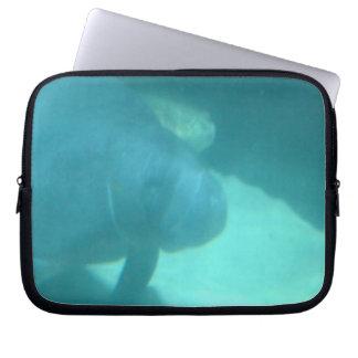 Manatee Floating on the Ocean Floor Laptop Computer Sleeves