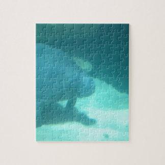 Manatee Floating on the Ocean Floor Jigsaw Puzzles