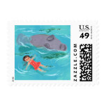 Manatee fun stamps