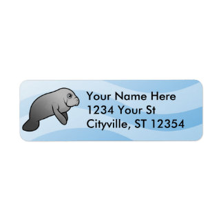 Manatee Label
