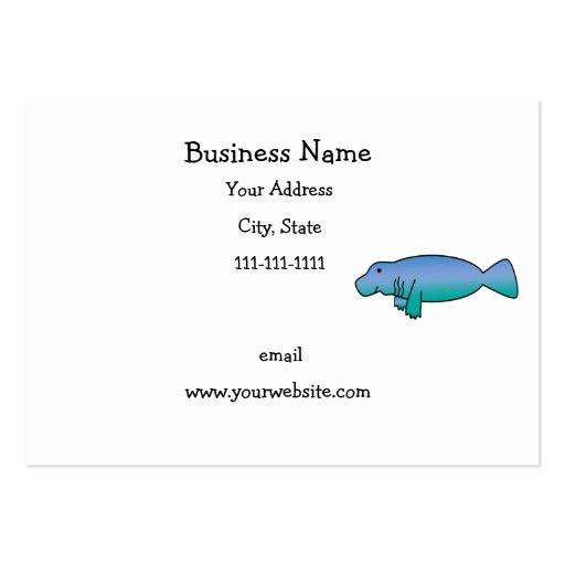 Manatee lindo tarjetas de negocios