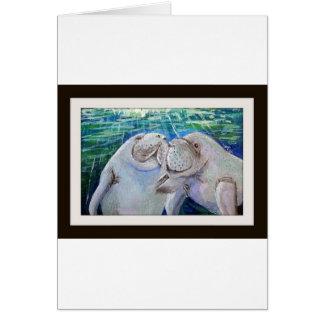 Manatee Love Greeting Card
