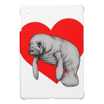 Beach Themed manatee love iPad mini cases