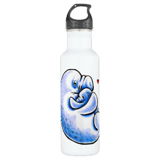 Manatee Mother's Love Stainless Steel Water Bottle
