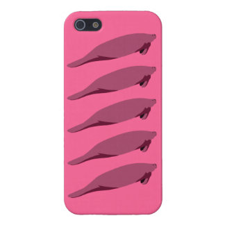 Manatee Multi pink-on-pink iPhone 5 5S glossy Case For iPhone SE/5/5s