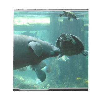 manatee N turtle_10x10 Bloc De Notas