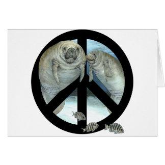 manatee peace greeting card
