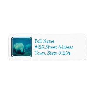 Manatee Photo Mailing Label