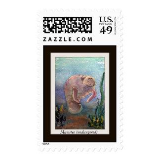 Manatee Postage Stamp