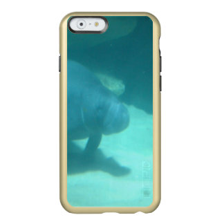 Manatee que flota en el suelo marino funda para iPhone 6 plus incipio feather shine