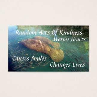 Manatee Random Acts of Kindness Card
