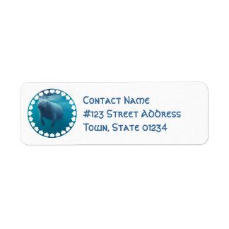 Manatee Return Address Label