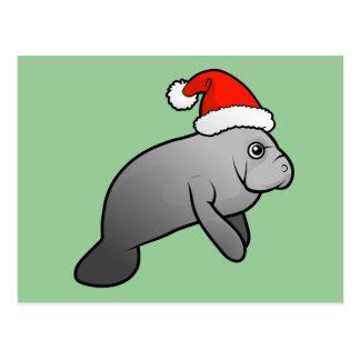 Manatee Santa del navidad Postales
