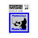 Manatee School Mascot postage stamp