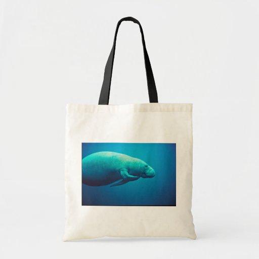 Manatee Scratching Tote Bag