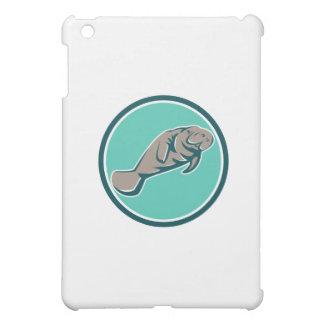 Manatee Sea Cow Circle Retro Cover For The iPad Mini