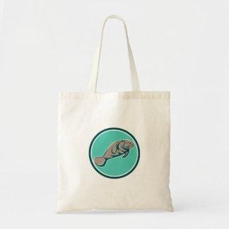 Manatee Sea Cow Circle Retro Tote Bag