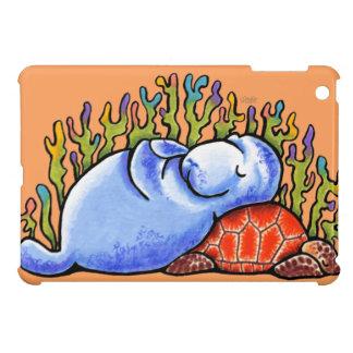 Manatee Sea Turtle Slumber Party iPad Mini Cases