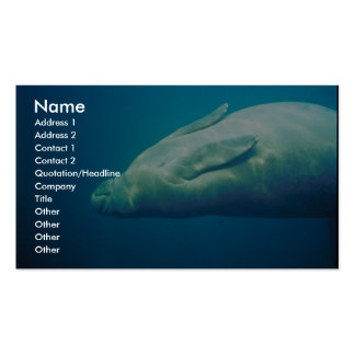 Manatee Stretching Business Card Templates