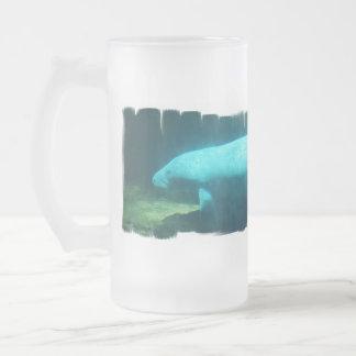 Manatee Swim Frosted Mug