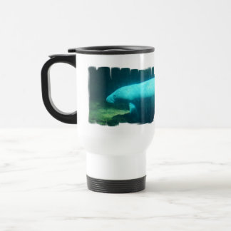 Manatee Swim Plastic Travel Mug
