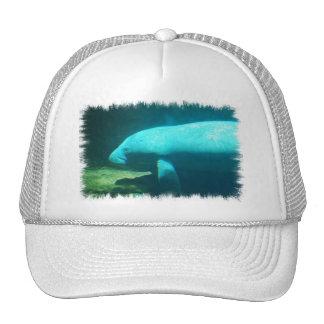 Manatee Swimming Baseball Hat